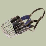 ワイヤー製バスケット型口輪 中型犬用