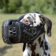 中・大型犬の訓練用革製の口輪