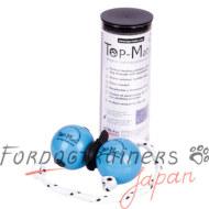 Top-Matic おもちゃボールセット 二つ青いボールと一つマグネットクリップ
